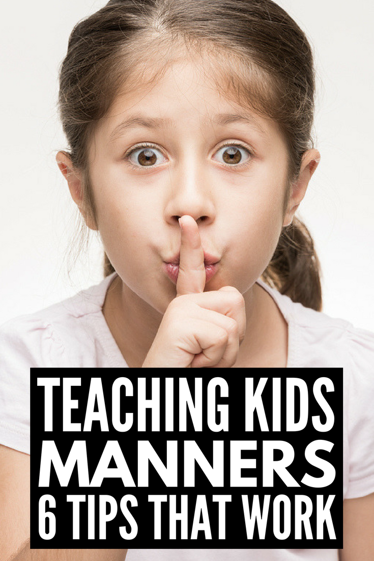 6 Tips for Teaching Kids Manners | Teaching manners to toddlers, to preschoolers, to kindergarteners, to teens, and to kids of all ages may seem difficult, but it's an important life skill for success in the classroom and beyond. We're sharing 6 tips and tools parents and teachers can use to raise polite children (I really love tip 5!), 7 activities for teaching kids manners, and our favorite books for raising polite kids.