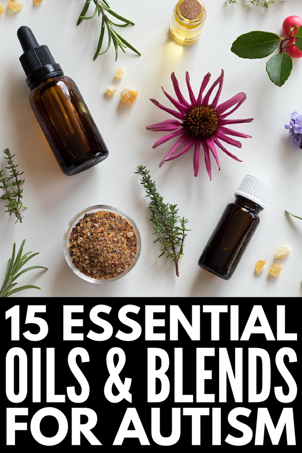 Essential Oils for Autism and Sensory Processing Disorder | If you're looking for natural remedies for autism to help alleviate symptoms of stress, anxiety, insomnia, anger, aggression, lack of focus, ADHD, etc., we're sharing our favorite single oils you can use to create your own recipes and blends, as well as our recommended doTERRA and Young Living essential oil blends for kids.