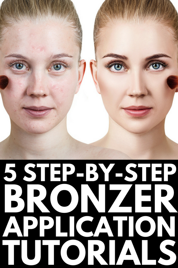 How to Use Bronzer | 5 step by step tutorials to teach you how to apply bronzer (and blush) for a sexy summer glow! Whether you have an oval or round face, fair skin, olive skin, or dark skin, these videos for beginners will teach you how to bronze your cheeks for a natural contour look. We're also sharing the best contour makeup products for every skin tone!