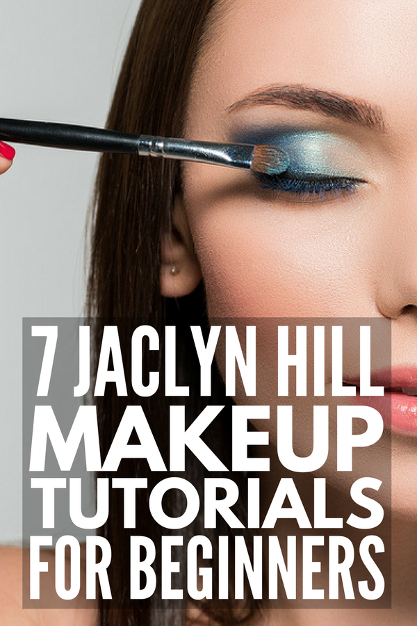 7 Jaclyn Hill Makeup Tutorials for Beginners | If you're looking for step-by-step Jaclyn Hill palette looks and makeup tutorials, we've rounded up 7 of our favorite beginner makeup tutorials. From natural pinks to bold reds, glitter and glam to a gorgeous purple smokey eye, we're sharing Jaclyn's favorite makeup products (hello, Morphe!) and beauty tips.