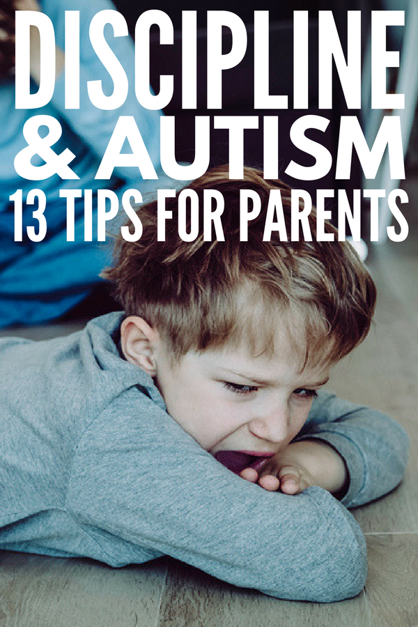 How to Discipline an Autistic Child | Is it the autism or just bad behavior? It's hard to know for sure, but if you struggle with autism and discipline, we're sharing 13 practical tips and behavioral strategies you can start implementing at home and in the classroom TODAY to help you child develop appropriate behavior management strategies and self-control techniques in a fun, nonthreatening way.