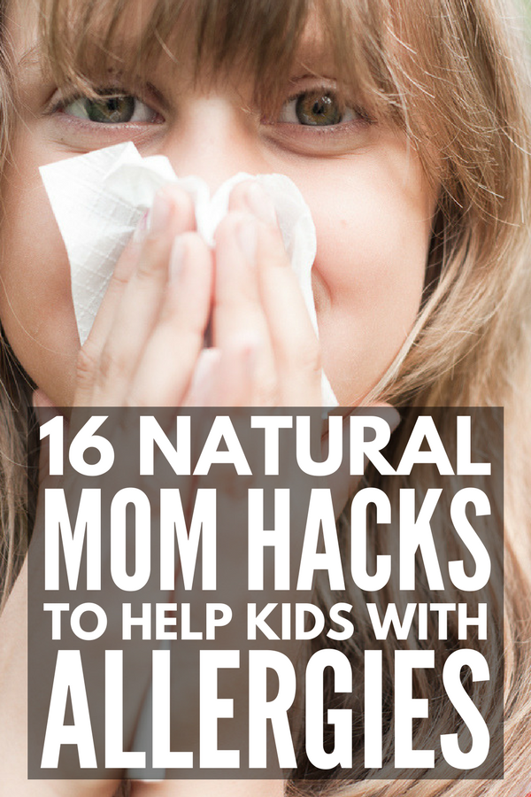 Natural Allergy Relief for Kids | Looking for natural allergy remedies for kids and for babies that offer relief from runny nose, nasal congestion, red, watery eyes, and itchy eyes and throat due to tree, grass, and ragweed pollen? We've got 16 tips and natural hay fever remedies you can use at home TODAY for simple allergy relief that works.