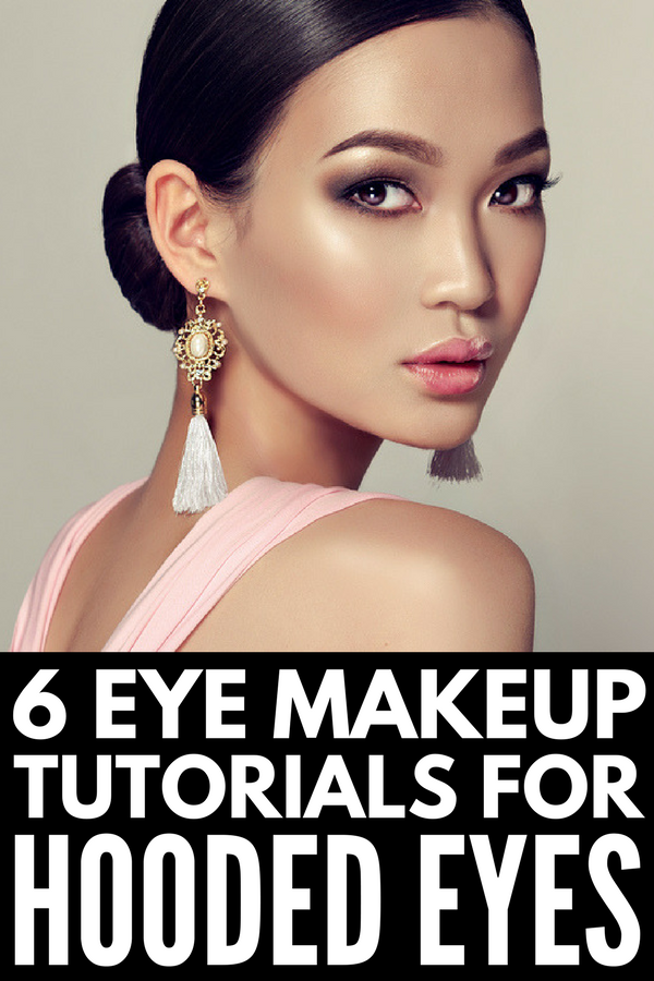 How to Apply Eye Makeup for Hooded Eyes | Learn how to apply eyeshadow (and how to apply eyeliner) to droopy eyelids with 6 tutorials that are packed with step-by-step tips to get the perfect cut crease, dome shape, soft smokey socket, and winged eyeliner. Perfect for Asian eyelids and Jennifer Lawrence lookalikes, you can make these everyday looks as natural or dramatic as you wish!