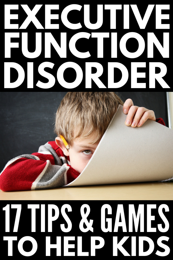 Executive Functioning Activities for Kids | If you're looking for tips, activities, and games to help develop your child's working memory, impulse control, problem solving, time management, organization, social, and self-control skills, we're sharing 17 tips and activities to help support your child at home. Perfect for kids with learning disabilities like ADHD, these ideas will help your child be successful at school and beyond!