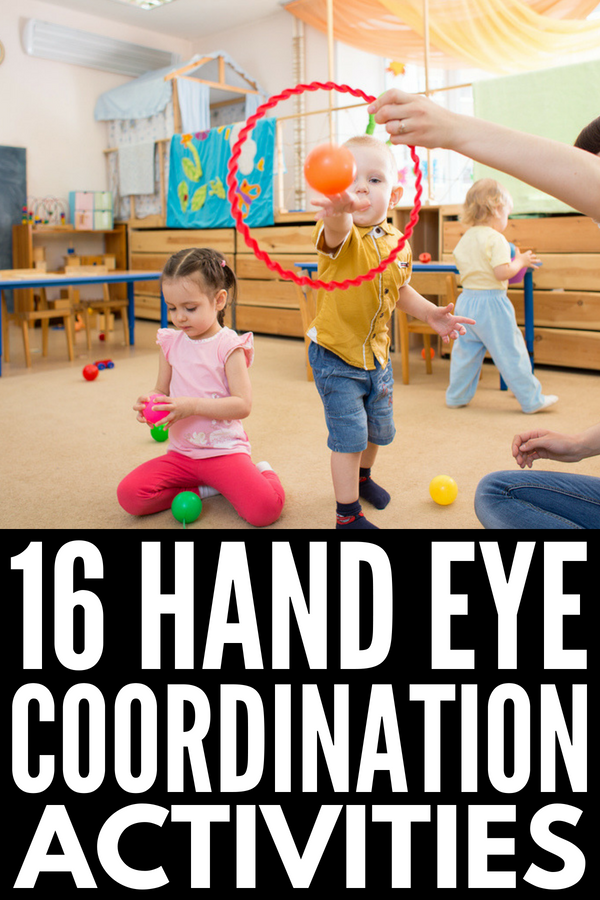 16 Hand Eye Coordination Activities for Kids | If your child struggles with hand eye coordination, proprioception, and/or gross motor skills, this collection of hand eye exercises and activities provides fabulous learning opportunities for children that are also incredibly fun! Perfect for toddlers, kindergarteners, and school-aged kids, these ideas will help develop practical life skills.