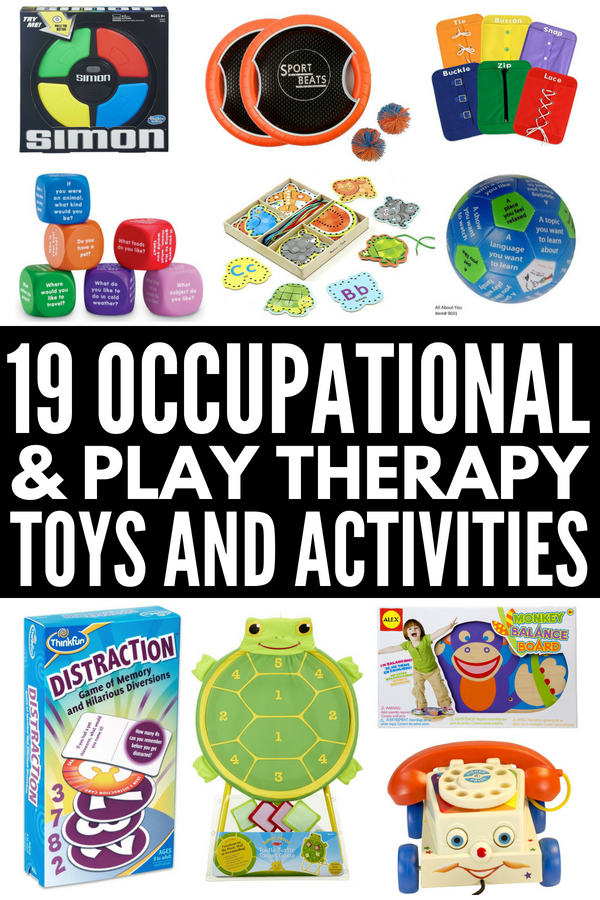 Therapy Toys for Special Needs Kids | 19 easy and fun occupational therapist approved toys for kids with developmental delays like autism, sensory processing disorder, and cerebral palsy. Perfect for use in speech therapy, play therapy, occupational therapy, and at home, these products and activities help kids develop their gross motor and fine motor skills, aid in language development, and help improve cognitive skills.