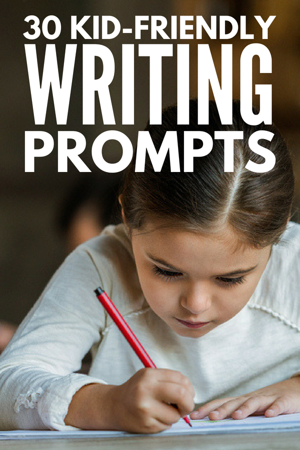 30 Journal Prompts for Kids | Looking for daily creative writing ideas for kids in first grade and beyond? Perfect for students in a classroom setting, as part of ongoing therapy, or as an after school or summer activity, these ideas will help teach kids gratitude, boost your child's self-esteem, and teach them how to work through their feelings and emotions in a positive way.