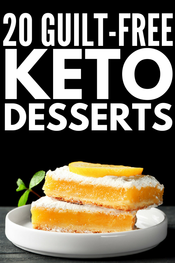 20 Keto Desserts | Looking for easy and delicious keto dessert recipes you can indulge in without guilt while on the ketogenic diet? From quick desserts with only 3 ingredients (almond butter fat bombs, no bake brownie bites, sugar free peanut butter fudge) to fancier low carb desserts (pumpkin cheesecake mousse, keto blondies, low carb butter cookies), these simple keto treats are to die for!