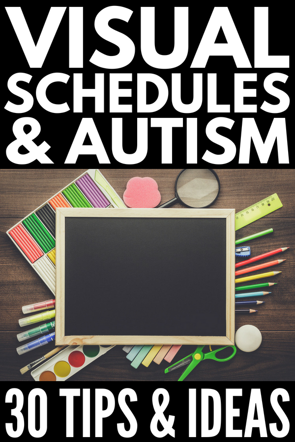 Visual Schedules for Children with Autism | Looking for daily routine charts to use in the classroom? Need free printables to use at home? Looking for DIY daily and weekly visual schedules for autistic children? From simple charts that teach life skills, to behavior support ideas, to portable PECS pictures, learn how to make your own visual routines and where to buy ready made communication boards that last.