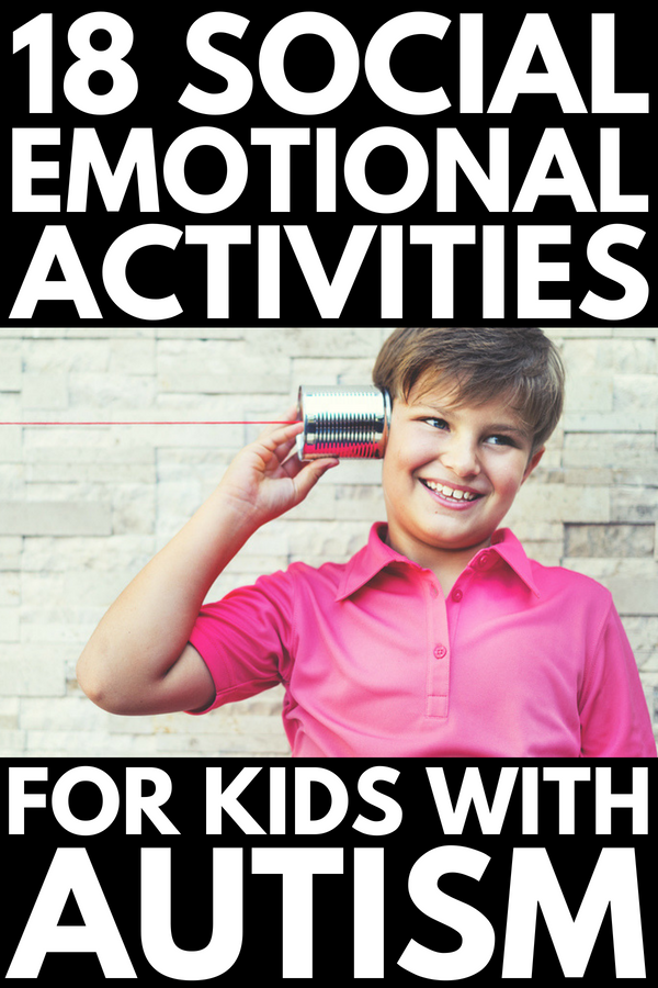 Social Skills Activities for Kids with Autism | Perfect for kids in preschool, kindergarten, middle school, and even teens, this collection of parenting tips and games will making teaching problem solving, self-control, self-regulation, and social emotional skills easier. #autism #selfcontrol #selfregulation #socialskills #socialemotional