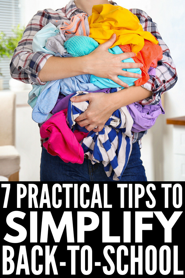 7 Tips to Simplify Back to School Routines for Type A Moms | Kids just starting preschool or kindergarten? Making the leap from elementary school to middle school? Just moved to a new neighborhood? Whatever the situation, the first day of school can cause moms and kids to feel anxious and stressed. Check out our best school hacks to help you and your children with time management and organization every single day! #backtoschool #backtoschooltips #timemanagement #oganization #morningroutine