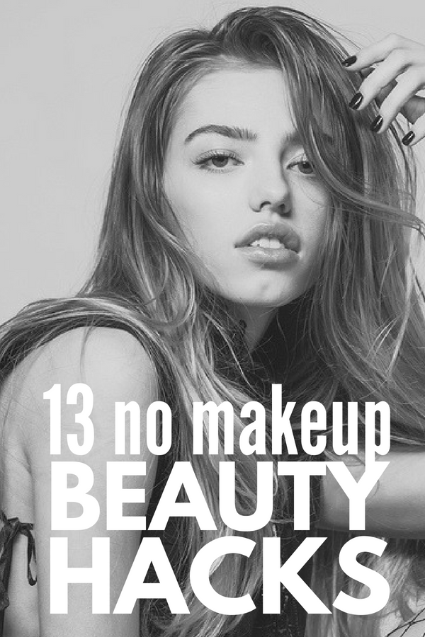 Beauty without Makeup | Always in a rush when you're getting ready for school or work? Need simple tips for flawless skin? Don't have time to apply eyeshadow and eyeliner to your eyes? Want to know how to get voluminous eyelashes and what to do to keep your eyebrows on fleek? These natural beauty hacks for girls are EXACTLY what you need! #beauty #beautytips #beautyhacks #nomakeup #makeuphacks #makeuptips #naturalbeauty #beautyroutine #skinroutine #morningroutine
