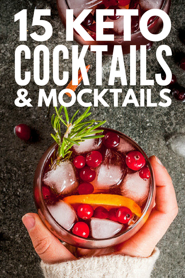 Keto Happy Hour! | Can I drink alcohol on the ketogenic diet? YES, YOU CAN! This collection of low carb keto drinks, cocktail recipes, and mocktails will teach you how to enjoy vodka, gin, rum, tequila, scotch, brandy, cognac, and whisky while still meeting your weight loss goals. Low carb diets have never tasted – or felt – so good! #keto #ketodiet #ketogenicdiet #ketosis #lowcarb #lowcarbdiet #lowcarbcocktails #ketococktails #ketodrinks #lowcarbdrinks #ketoalcohol #lowcarbalcohol