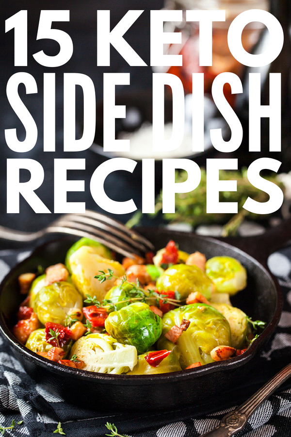 15 Keto Side Dishes for Weight Loss | Looking for low carb side dishes? From quick keto vegetarian options, to low carb ideas for the BBQ , to dairy free side dishes, these keto recipes are quick & delicious. Using easy to prepare vegetables like corn, cauliflower, broccoli, zucchini, asparagus & green beans, these veggies can be enjoyed alone or with chicken, burgers, fish & beyond! #keto #ketodiet #lowcarb #lowcarbdiet #ketosidedishes #lowcarbsidedishes #ketosis #ketorecipes #lowcarbrecipes