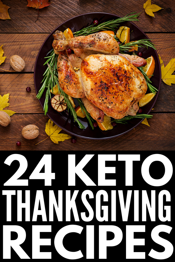 24 Keto Thanksgiving Recipes | Looking for low carb Thanksgiving recipes? From turkey meatballs and cauliflower stuffing, to bacon parmesan green beans and easy crockpot ham, to delicious cream cheese desserts like low carb pumpkin pie and pumpkin pie cheesecake, these keto appetizers, side dishes, mains, and desserts are what dreams are made of! #keto #ketodiet #lowcarb #lowcarbdiet #ketorecipes #lowcarbre4ecipes #ketosis #nobake #ketothanksgiving #lowcarbthanksgiving
