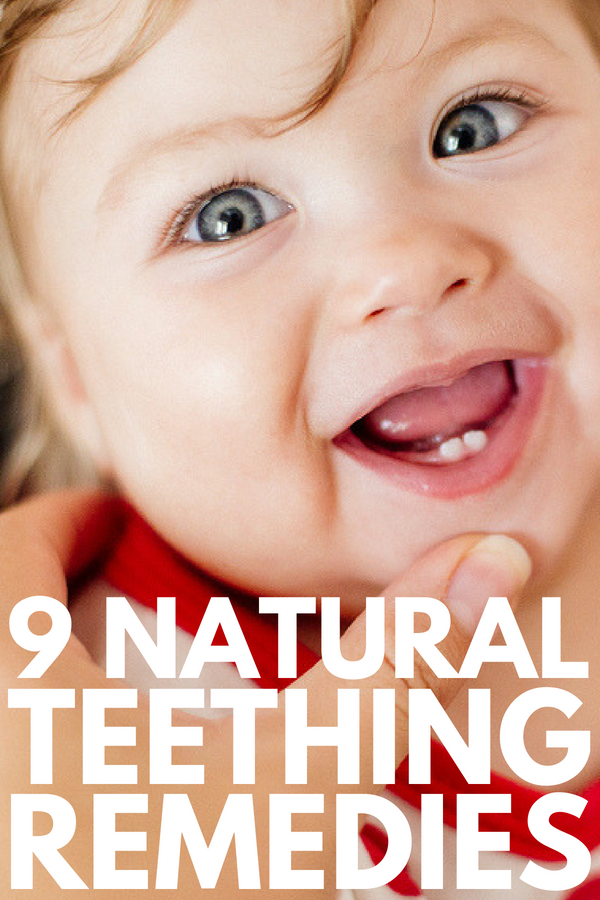 9 Teething Remedies for Kids | Looking for DIY tips and products to help ease teething pain and discomfort in your baby or toddler, but don't feel comfortable using things like essential oils and amber necklaces? Prepare to be inspired! We've got 9 simple remedies for moms (and dads) for fast relief! #teething #teethingbaby #teethingtoddler #teethremedies #naturalremedies #homeremedies