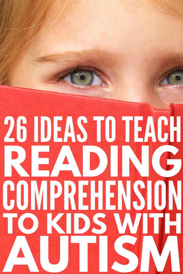 26 Reading and Autism Ideas | Autism and reading comprehension can be difficult for parents and teachers to teach to children. Whether your child or student is a struggling reader, has difficulty with WH questions, needs help with sight words and decoding strategies, or has nonverbal autism, these special education teaching strategies and literacy activities are a good place to start! #autism #ASD #specialneeds #specialeducation #literacy #sightwords #strugglingreader #decodingstrategies