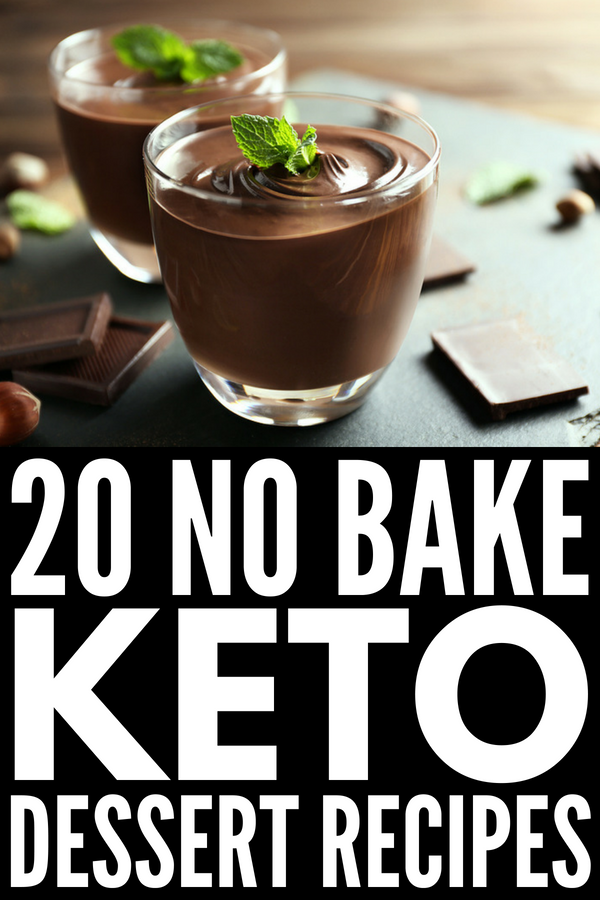 20 No Bake Keto Desserts | Looking for easy no bake low carb dessert recipes to help you lose weight without feeling deprived? We've got 10 no bake keto cheesecake recipes plus 10 keto dessert recipes made with delicious ingredients like peanut butter, cream cheeses, almond flour, coconut, and chocolate. Who says LCHF, gluten, no sugar, and stevia sweetened sweets taste bad?! #keto #ketodiet #lowcarb #lowcarbdiet #ketodessert #lowcarbdesserts #ketosis #ketorecipes #lowcarbrecipes #nobake
