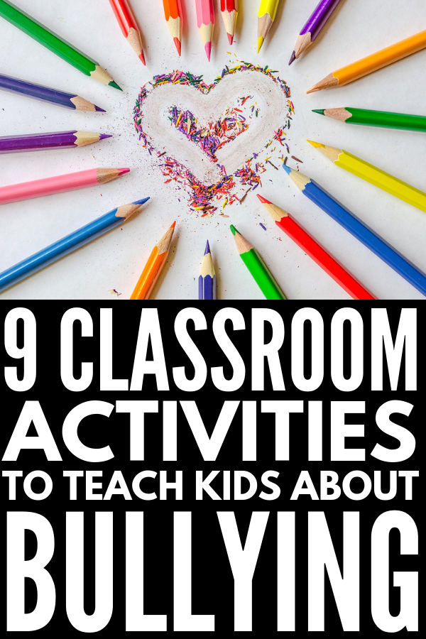 9 Anti Bullying Activities for Kids | Whether you're a parent looking for ideas to help teach your child to stand up and put a stop tp bullying at school, or a teacher looking for crafts, activities, and games to incorporate into your lesson plans in the classroom, this collection of tips and tools is sure to inspire you. We go beyond bucket fillers and wrinkled hearts and have 9 unique ideas you'll love! #bullying #bullyingactivities #kindness #randomactsofkindness #saynotobullying #choosekind