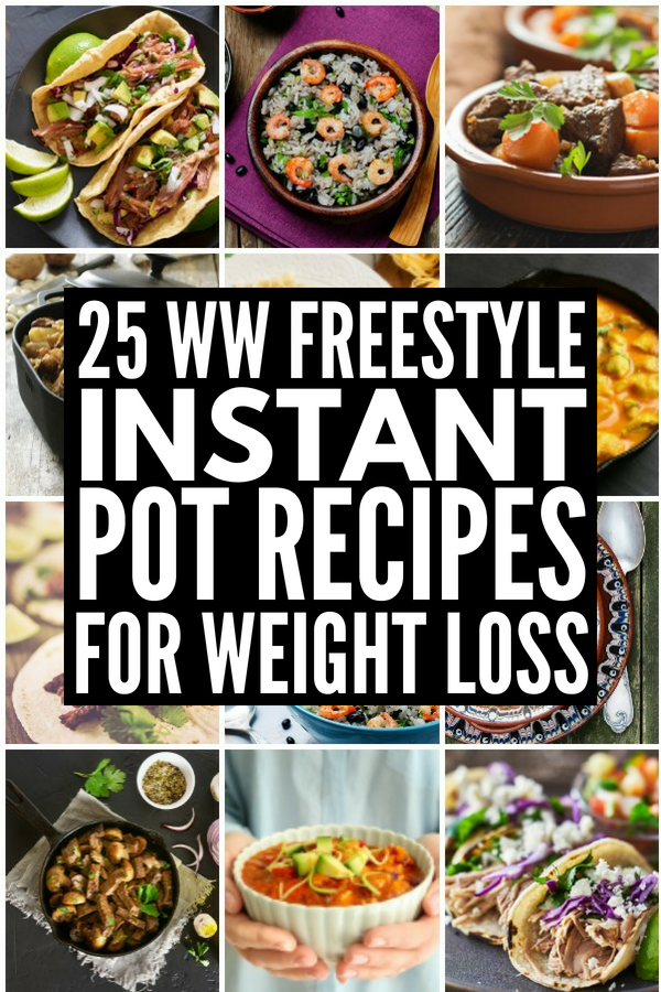 25 Weight Watchers Instant Pot Recipes | Looking for EASY Freestyle instant pot recipes with points to help with your weight loss goals? Whether you're looking for hearty chicken, turkey, pork, beef, steak, or shrimp recipes, follow a vegetarian diet, or have allergies that require gluten free options, this collection of Weight Watchers recipes with points will NOT disappoint! #weightwatchers #weightwatchersfreestyle #instantpot #instantpotrecipes #weightwatchersinstantpot #freestylerecipes