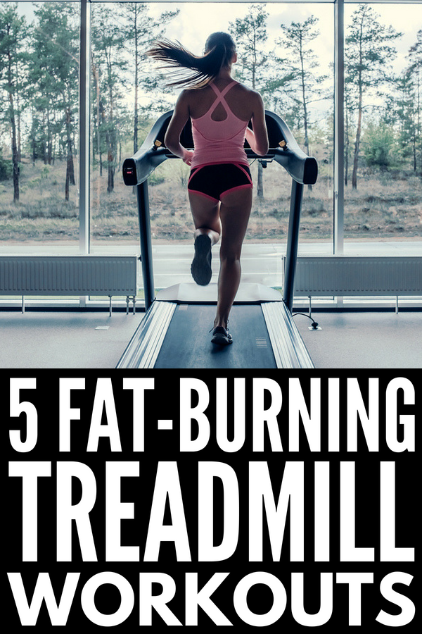 5 Fat Burning Treadmill Workouts | Want to lose weight FAST? This collection of full body treadmill workouts for beginners (and beyond) will teach you how to incorporate HIIT and weights into your workout routine to work your glutes and booty while also tightening and toning your core. Learn how running interval sprints and walking on an incline can take your gym routine to the next level! #treadmillworkout #fatburning #HIIT #HIITworkout #intervaltraining #runningtips
