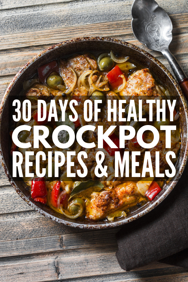 30 Crock Pot Recipes for Weight Loss | Looking for easy, clean eating slow cooker recipes to help you lose weight and fit into your skinny jeans? Whether you follow a low carb keto diet, the Weight Watchers Freestyle plan, or prefer the 21 Day Fix approach, we're sharing 30 days of meals you can make on a budget! #crockpot #crockpotrecipes #ketodiet #ketorecipes #lowcarb #lowcarbrecipes #weightwatchers #weightwatchersrecipes #cleaneating