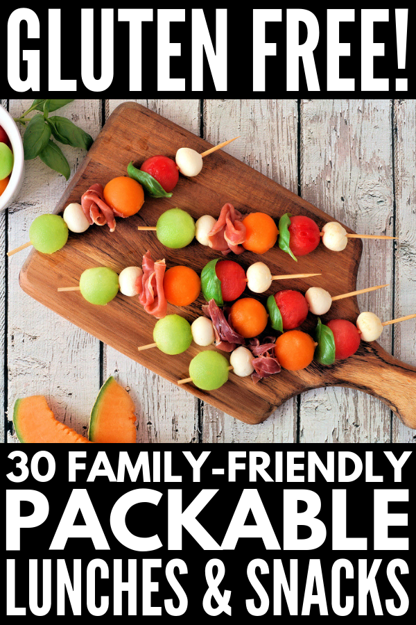 30 Portable Gluten Free Lunch Ideas | If you're looking for packable lunch recipes for kids to take to school and/or for adults to take to work, or need on-the-go gluten free snack recipes for the whole family, we've rounded up 30 quick, easy, simple, healthy, and delicious ideas even the pickiest eater will love! #glutenfree #glutenfreerecipes #glutenfreelunches #glutenfreedairyfree #glutenfreekids