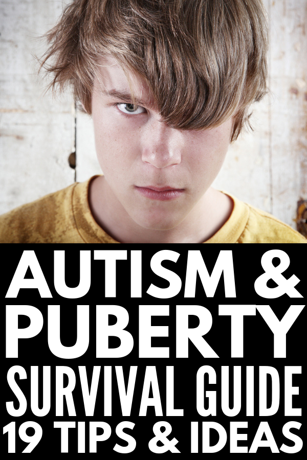 Autism and Puberty | If you're looking for tips to help make the teenage years easier for girls and/or boys on the autism spectrum, we're sharing 19 helpful ideas and strategies for special needs parents. We've included 8 things all parents and caregivers should know, 8 of the best autism and puberty books, and 11 simple ways you can help support your autistic child through adolescence. #autism #autismspectrumdisorder #autismtips #puberty #specialneeds #specialneedskids