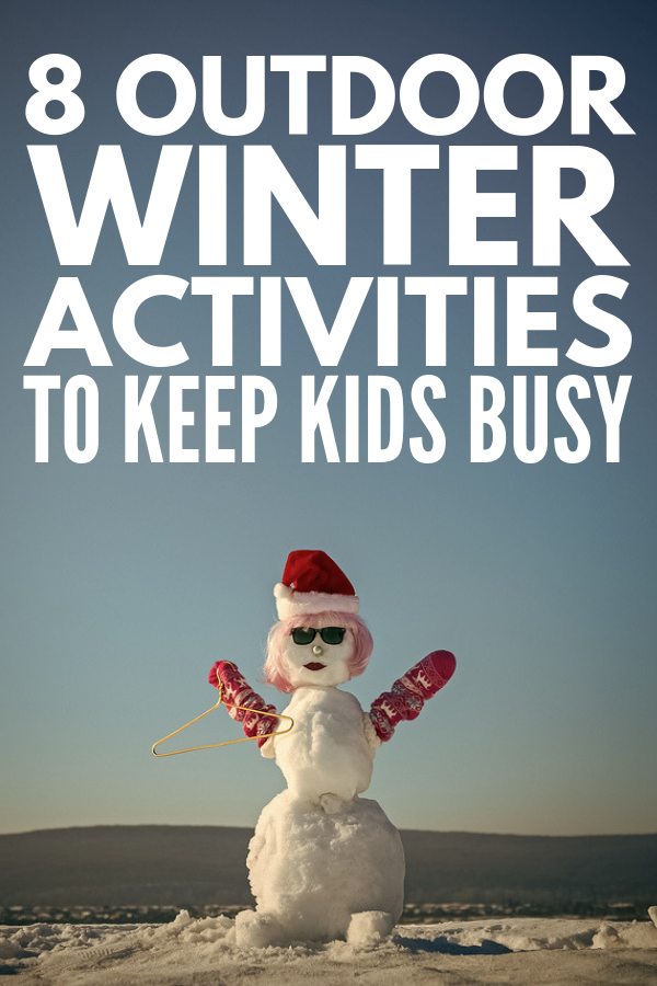 8 Ways to Keep Kids Active this Winter | If you want to know how to keep kids active during the winter months, we're sharing 8 family-friendly ideas they'll love. From scavenger hunts and snow painting, to winter science experiments and the perfect recipe for frozen bubbles, these ideas are the perfect way to beat cabin fever! #WinterActivities #SnowActivities #KidsActivities #OutdoorActivities #OutdoorActivitiesForKids