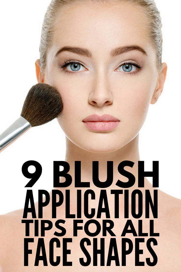 How to Apply Blush Correctly | Want to know how to get high cheekbones? We're sharing our best makeup tips and step-by-step application techniques to teach you how to apply blush for your face shape. Whether you have a round face, square face, heart-shaped face, oval face, or diamond-shaped face, we'll teach you how to use (and how to apply) cream and powder blush using our favorite makeup brushes. #howtoapplyblush #blushapplication #applymakeup #makeuptips