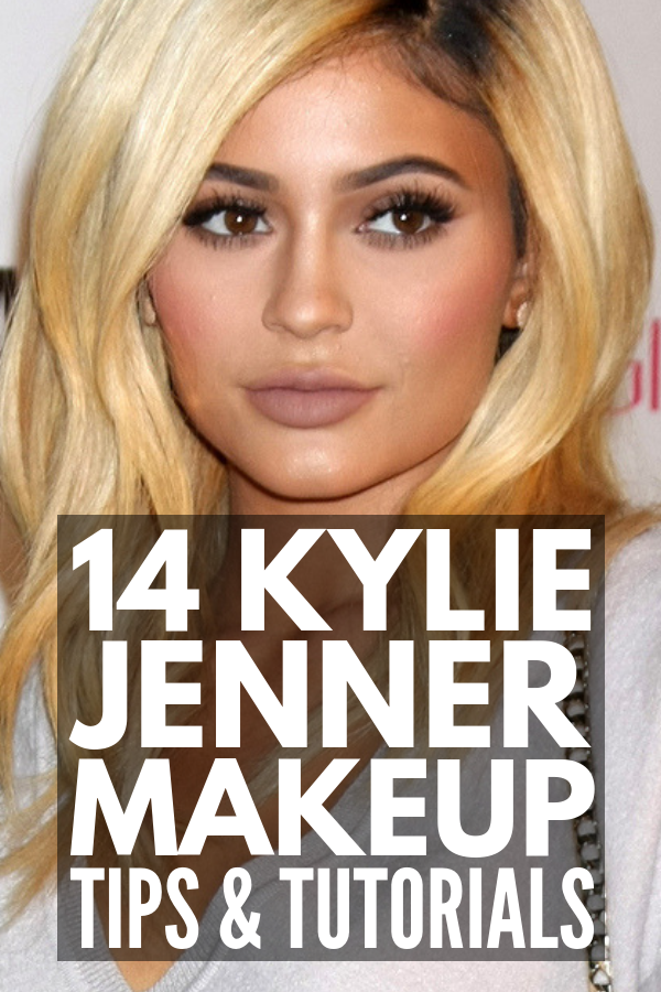 Kylie Jenner Makeup | Whether she's splashed on the cover of Vogue, sporting red lips or her pink glam look, or wearing something smokey, subtle, and natural, there's no question Kylie Jenner knows how to apply makeup! Check out this collection of Kylie Jenner makeup tutorials, beauty secrets, products, and our favorites from the Kylie Collection, including eyeshadow palettes, lipsticks, concealers and highlighter (Kylighter). #kylejenner #kyliejennermakeup #kyliejenner #kyliejennerbeauty