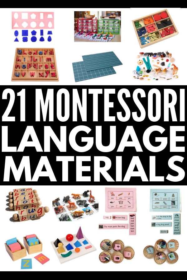 21 Montessori Language Activities | Whether you're teaching letter recognition, beginning sounds, and word building with casa kids (preschool / kindergarten) or need ideas to create literacy centers to teach digraphs, phonograms, and parts of speech to lower elementary children (first grade and beyond), these Montessori language materials and activities are perfect for teachers, parents, and homeschooling super mamas! #montessori #montessoriactivities #montessorilanguage #montessorimaterials