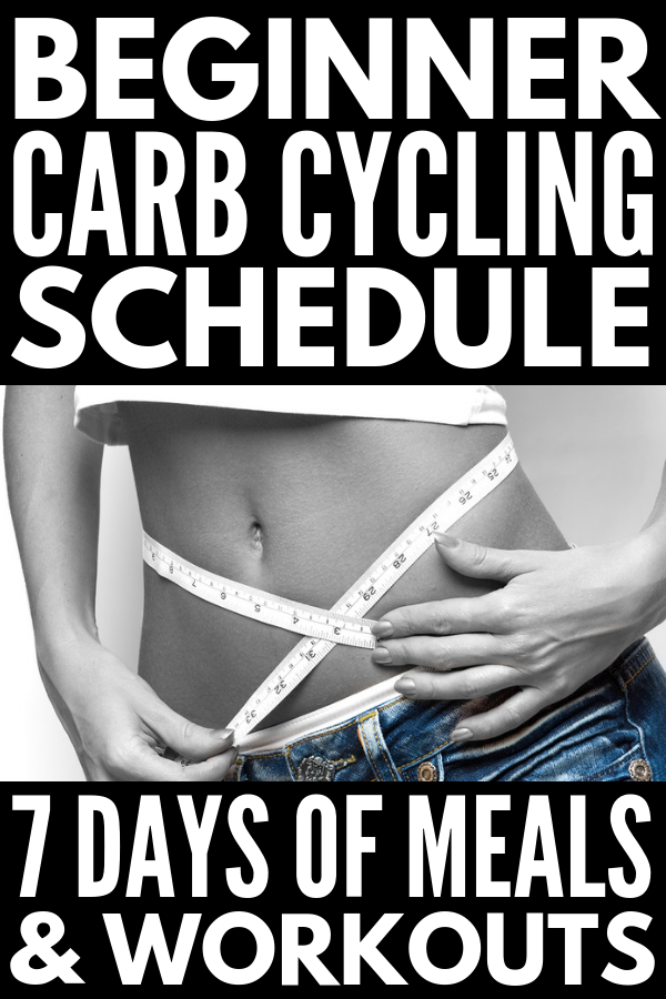 7-Day Carb Cycling Diet Workout Plan for Beginners | If you're looking for a sample menu to help you get started with the carb cycling diet to help you burn fat and build lean muscle, and want to know exactly which kinds of workouts to do on your low carb and high carb days to maintain proper fitness for your energy levels, this 7-day carb cycling menu and workout schedule is your ticket to weight loss that lasts! #carbcycling #lowcarbworkout #hiitcardio #fatburn
