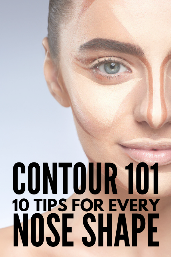 How to Contour Your Nose | If you're looking for makeup hacks and tutorials to teach you how to make your nose look thinner and smaller - or how to change the shape of your nose entirely – with powder, contour, bronzer, and highlighter, these beauty tips and products recommended by our favorite makeup artists are for you! And don't worry! They don't require you to learn the complex Kim Kardashian contouring routine! #contouring #contour #contourmakeup #howtocontour #nosecontour