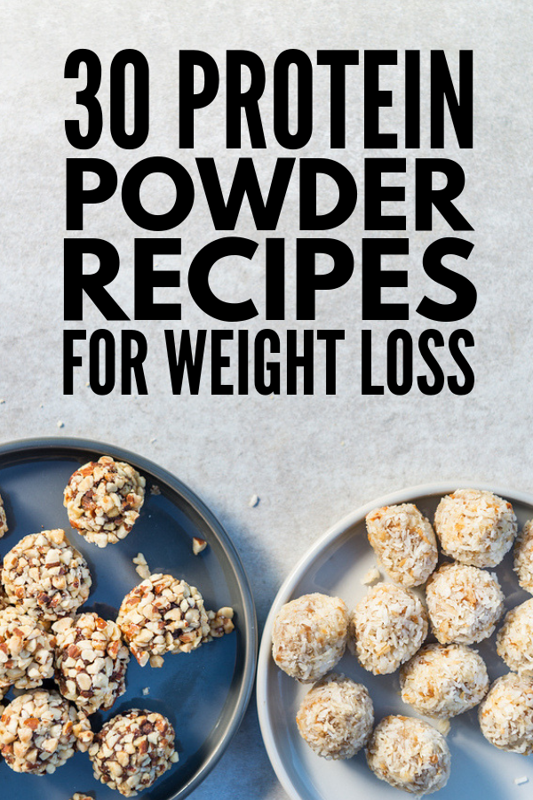 30 Protein Powder Recipes for Weight Loss | Muffins, shakes, bars, brownies, and pancakes, oh my! This collection of easy, low carb, keto-approved breakfasts, snacks, and desserts taste good and will keep you feeling full. Whether you prefer whey, hemp, or pea protein, prefer vanilla, strawberry, or chocolate, these quick and easy ideas will inspire you! #proteinpowder #proteinpowderrecipes proteinpowdersmoothies