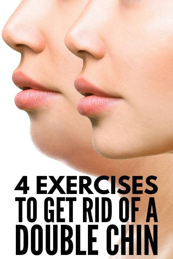 How to Get Rid of a Double Chin Fast! | While it's impossible to banish neck flab overnight, in a day, or even in a week, there are certain neck workouts you can do to tighten and tone the muscles in your neck and jaw line (have you heard of face yoga?!). We're sharing the most effective double chin exercises as well as our favorite tips to hide a double chin with makeup to help banish the appearance of face fat! #doublechin #doublechinexercises #faceexercises