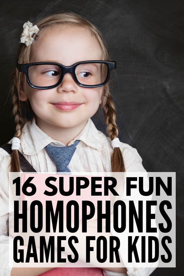 16 Homophones Games for Kids | If you're looking for fun tips and activities to teach kids about homophones at home or in the classroom, we're sharing everything you need to make learning FUN again. Forget the worksheets! Use these common cores teaching tips as well as our favorite games, activities, and exercises for kids in elementary school (1st, 2nd, 3rd) and middle school (4th, 5th, 6th). We're included helpful homophones lists with pictures! #homophones #homophonesactivities #grammargames