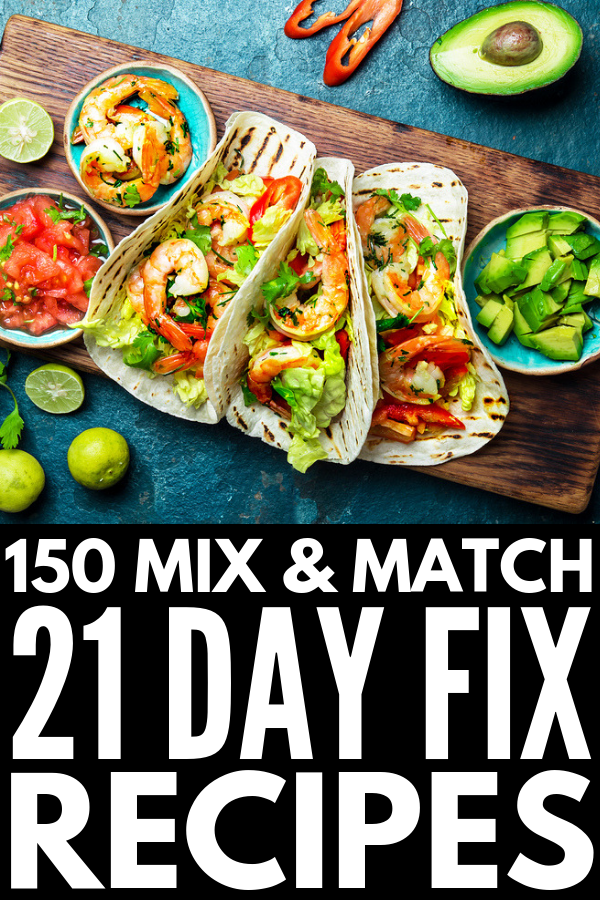 30 Days of 21 Day Fix Recipes for Weight Loss | We're sharing 150 breakfast, lunch, dinner, snack, and dessert recipes you can enjoy on the 21 Day Fix diet! Whether you like cooking on the fly or prefer using your crockpot / instant pot, need vegan or vegetarian options or prefer meals with chicken, beef, and/or pork, follow a gluten free diet or eat absolutely ANYTHING, these meals will fill you while still getting you beachbody ready! #21dayfixrecipes #21dayfixapproved #21dayfixextreme