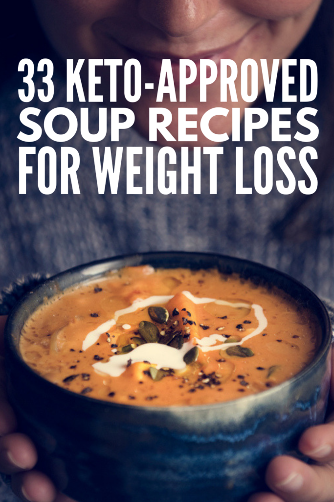 33 Keto Soup Recipes for Weight Loss | If you follow a low carb ketogenic diet and want some easy comfort food recipes to add to your weekly rotation, this collection of clean eating soup recipes is a great place to start. Perfect for your crockpot, instant pot, or slow cooker, we've included healthy soup recipes for everyone – chicken, beef, vegetarian, Greek yogurt, and dairy free! #ketosouprecipes #lowcarbsouprecipes #ketocomfortfood