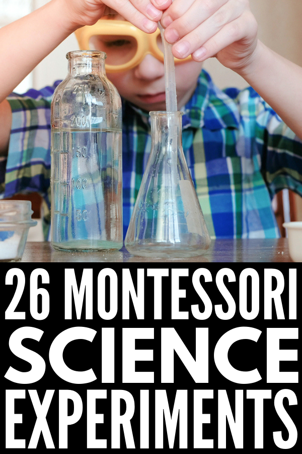 26 Montessori Science Experiments | Botany, biology, physics, astrology, and chemistry, oh my! These hands-on Montessori activities offer the perfect balance between sensory play and classroom instruction, and go above and beyond science experiments for kids that are focused on chemical reactions with baking soda and vinegar. These fun activities are just what you need to make learning about science FUN! #montessori #montessoriactivities #montessoriscience #scienceforkids