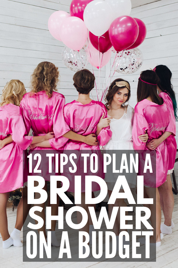 How to Throw a Bridal Shower on a Budget | Looking for budget-friendly bridal shower ideas? We've got 12 money-saving ideas that don't require you to buy all of your décor and favors from dollar stores. These simple tips will teach you how to cut back on your food budget, inspire you to create fun and meaningful gifts (hello, mason jar gifts!), and show you where to create beautiful online wedding shower invitations to help create the perfect day for the bride! #bridalshower #bridalshowerideas