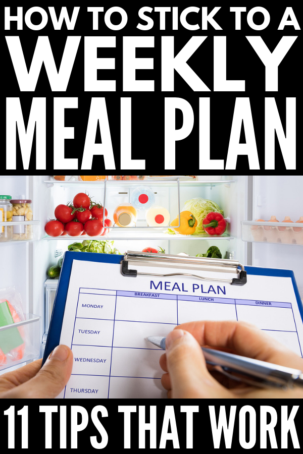How to Meal Plan for Beginners | 11 time-saving tips to help you learn the art of meal planning on a budget! Whether you prefer to meal plan for the week or for a month at a time, need meal planning tips for one, for two, or for the whole family, want healthy clean eating ideas for weight loss, and/or want to learn freezer cooking, we're sharing our best tips to teach you how to make a meal plan that will work for you and your goals! #mealplan #mealplanning #mealprep