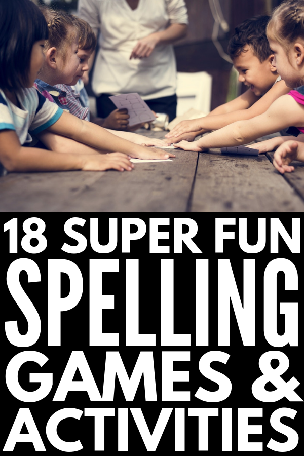 18 Spelling Activities and Games | Learning spelling has never been easier – or more fun! – than with this collection of teaching strategies, activities, and games. With ideas for first grade (and 2nd and 3rd), for middle school, and for upper elementary, these hands-on activities for kids can be used with any spelling list for meaningful learning that lasts. #teachingspelling #spellingactivities #spellinggames