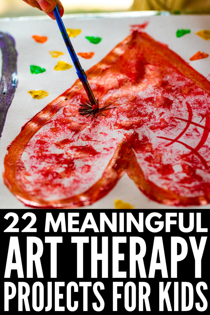 Art Therapy for Kids | Perfect for emotional healing, anger management, helping kids deal with feelings related to trauma, grief, and divorce, and for kids with mental health challenges and special needs like autism, ADHD, OCD, and anxiety, this collection of simple and creative art therapy projects and crafts will help your child deal with their emotions and heal. #arttherapyforkids #arttherapyprojects #arttherapyactivities