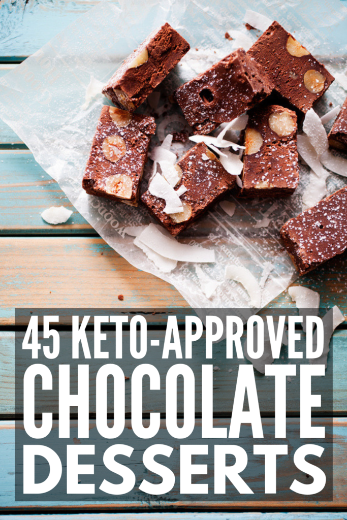 45 Keto Chocolate Recipes to Indulge In | If you're looking for easy, low carb desserts to satisfy your cravings, grab your favorite unsweetened cocoa, stevia, and cream cheese and give this collection of keto desserts a try. From chocolate fat bomb recipes, to chocolate mug cakes, to dairy free chocolate recipes, these ideas will help you stay in ketosis while still enjoying your favorite LCHF treats. #ketochocolaterecipes #lowcarbchocolaterecipes #ketodesserts
