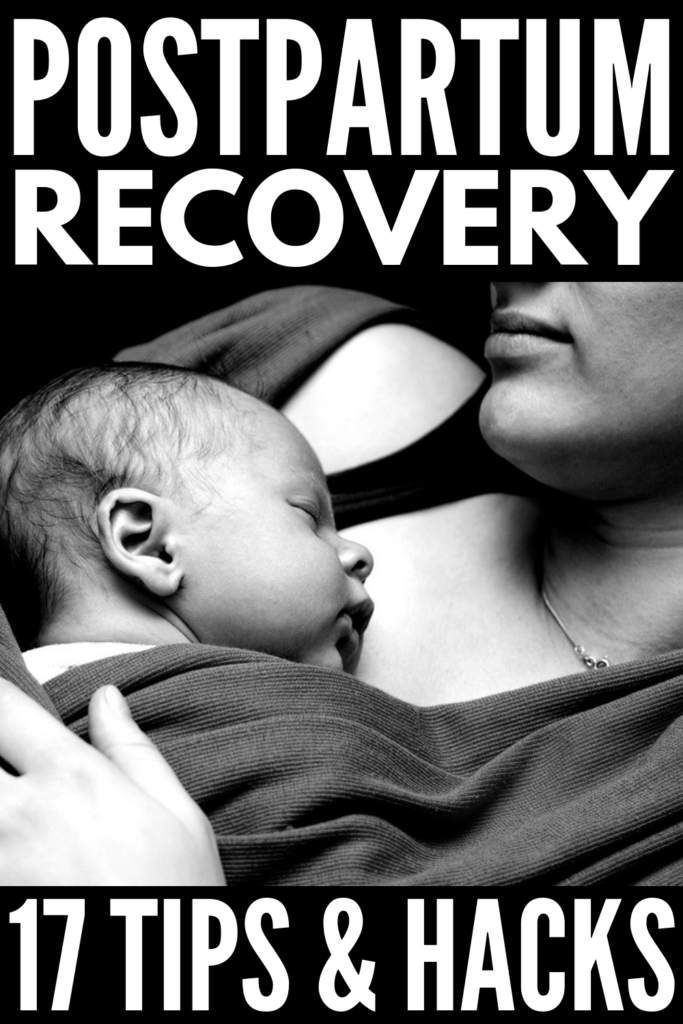 17 Postpartum Recovery Tips for First Time Moms | Healing after birth is no walk in the park. From stitches, bleeding, and perineum pain to all of the body changes that occur after a C section, the days and weeks after pregnancy can be an emotional and painful rollercoaster! These postpartum care truths and tips will help you heal faster so you can care for your baby, get back into a healthy diet and fitness routine, and feel more like you. #postpartum #postpartumtips #postpartumrecovery
