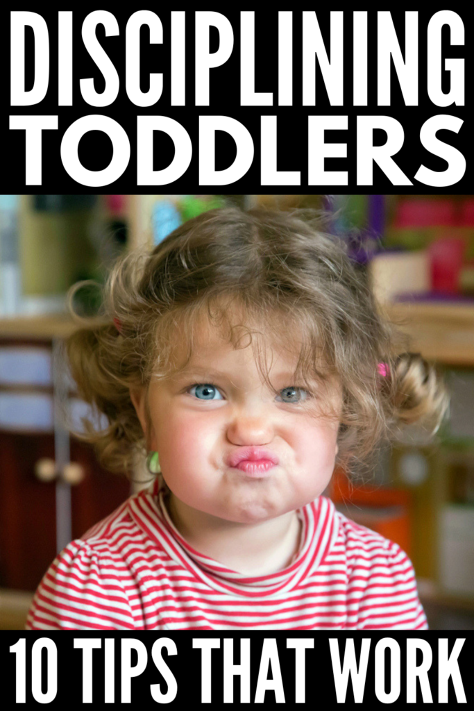 How to Discipline a Toddler | Parenting is hard enough as it is, and when you throw tantrums into the mix, it can be downright overwhelming. Whether you're the mom to sons or daughters, the toddler years will leave you wondering how to get your kid to behave without yelling or time outs, and this collection of 10 simple positive discipline ideas will teach you how to do just that. #tempertantrums #positiveparenting #positivediscipline