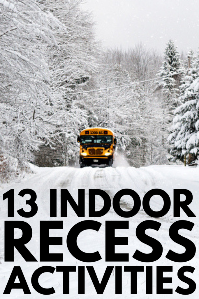 13 Indoor Recess Activities for Kids | If you're looking for fun classroom ideas to get your kids moving on snowy and rainy days, these brain break ideas will inspire you! Perfect for kids in preschool, kindergarten, elementary school, and middle school, we've included a mix of gross motor activities, learning stations ideas, team building games, and other classroom games and movement activities to keep your students engaged and help them blow off steam. #indoorrecess #brainbreaks