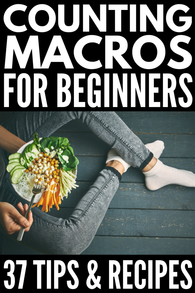 How to Count Macros for Beginners | The right balance of macronutrients – carbs, fat, protein – is key to losing weight, building muscle, and helping you get the most out of your workout sessions. Of course, knowing how to create a balanced and healthy nutrition plan to support your weight loss goals and help you get more out of your exercise plan takes practice, and this 30-day macro diet plan is a great starting place, with 120 mix and match recipes! #countingmacros #macronutrients #macros