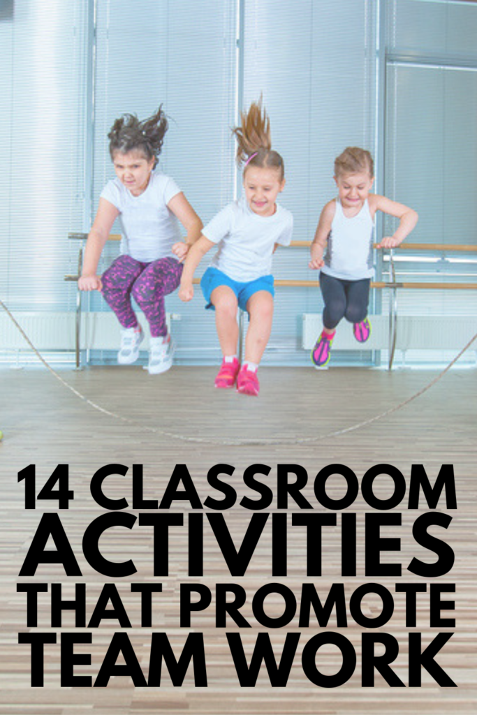 14 Team Building Activities for Kids | Looking easy and fun ways to teach team work, inclusion, social skills, communication, and problem solving in the classroom? These cooperative games and activities will inspire you! We've included indoor and outdoor ideas, 'getting to know you' icebreakers for the first day of school, and activities you can enjoy with your students all year long to encourage ongoing collaboration and team work. #teambuilding #teacherresources #teaching #classroom